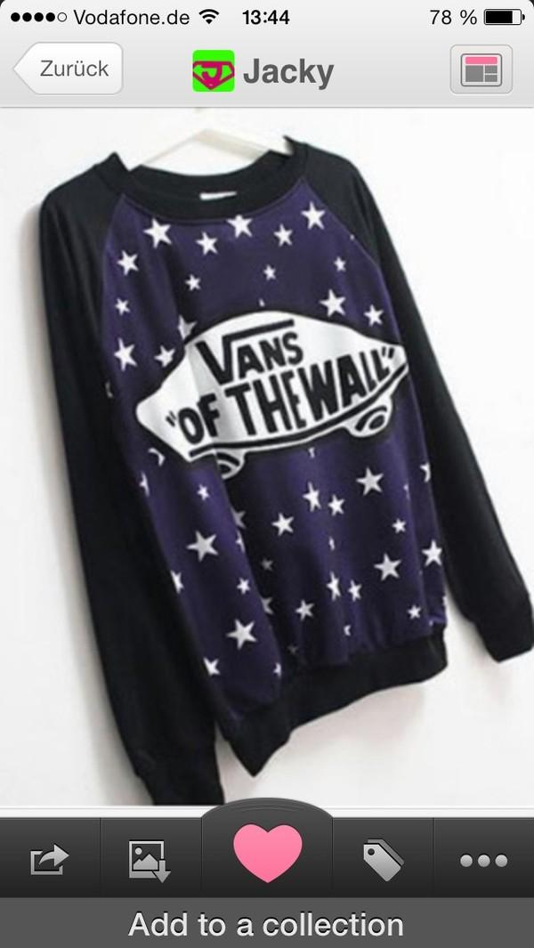 sweater stars vans