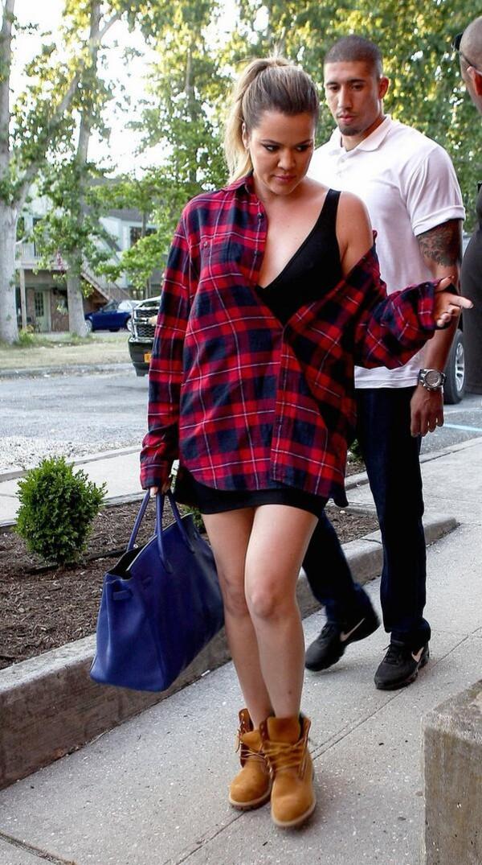 khloe kardashian shirt shoes bag