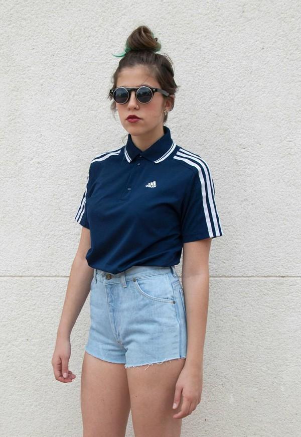 t-shirt adidas polo shirt navy vintage stripes