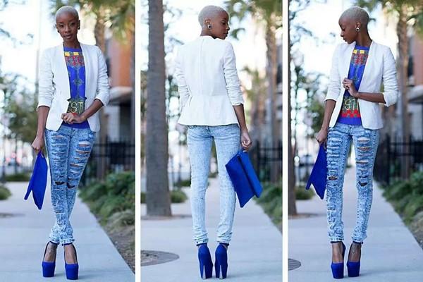 blouse jacket jeans
