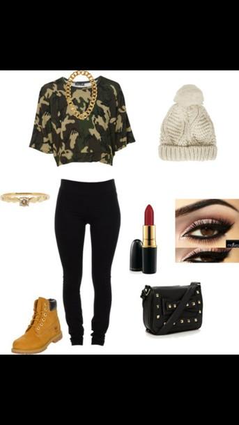 blouse camo shirt