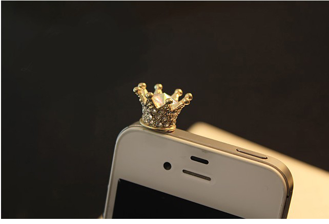 CCP001 New Fashion Phone Accessories Dust Plug Full Crystal Crown Phone Chain-in Dust Plug from Electronics on Aliexpress.com