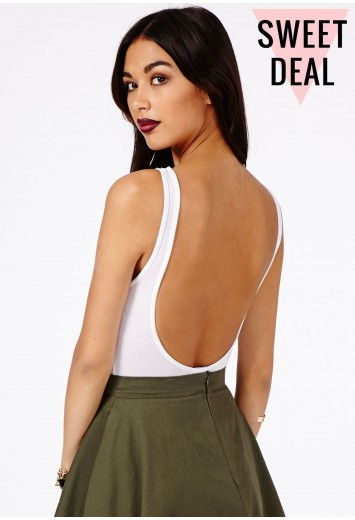 Patsy Value Open Back Bodysuit - top - missguided | Ireland
