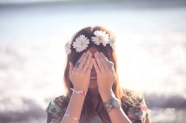 hat flower crown gypsies flower gypsies flower crown