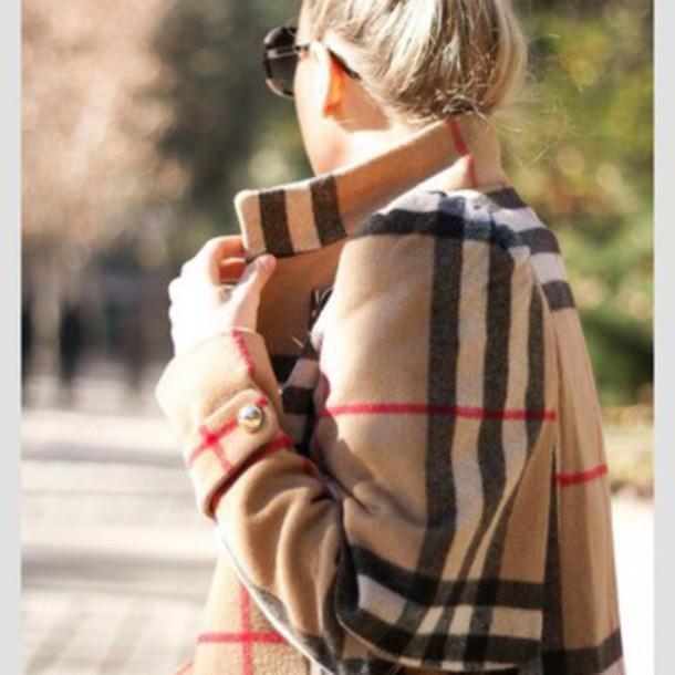 coat burberry sweater coat