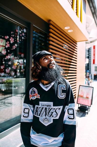 top hockey jerseys jersey hockey jersey hockey kings los angeles menswear mens sweater urban menswear