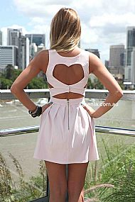 HEART CUT OUT DRESS , DRESSES, TOPS, BOTTOMS, JACKETS & JUMPERS, ACCESSORIES, SALE, PRE ORDER, NEW ARRIVALS, PLAYSUIT, COLOUR,,Pink,CUT OUT,BACKLESS Australia, Queensland, Brisbane