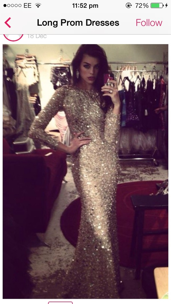dress prom dress sequin dress gold sequins dress cream dress pretty