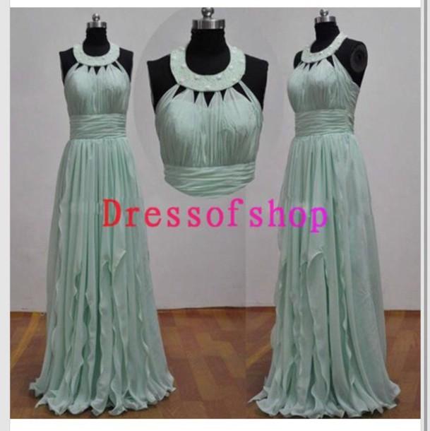 dress blue dress greek style light blue prom dress long dress