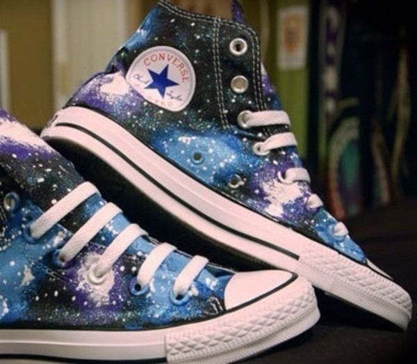 shoes galaxy print sneakers