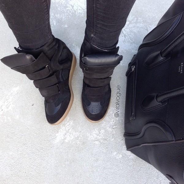 shoes wedges black