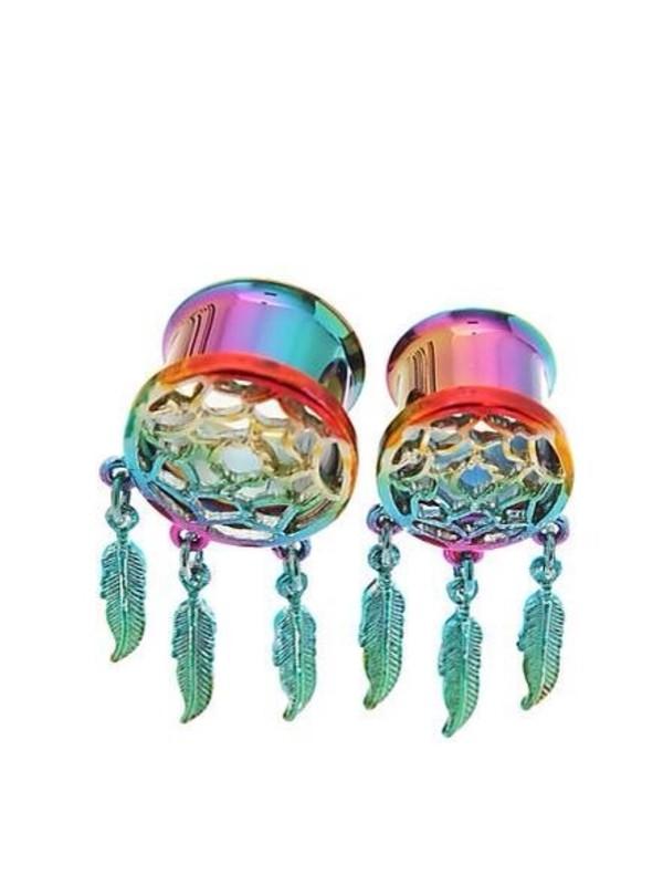 jewels earrings stretchers dreamcatcher