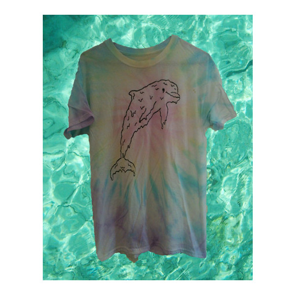 CUSTOM DYED. melting dolphin shirt. - Polyvore