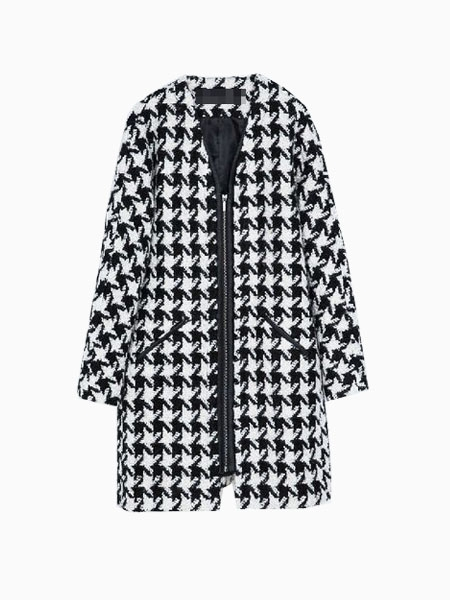 Oversized Coat In Houndstooth | Choies