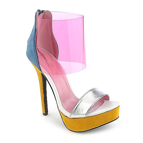 Shoe Republic LA Susanna platform color block high heel