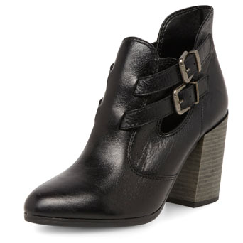 Black leather cut out boot - View All Shoes & Boots  - Shoes  - Dorothy Perkins