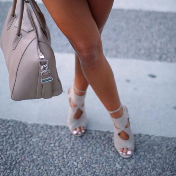 shoes heels high heels beige