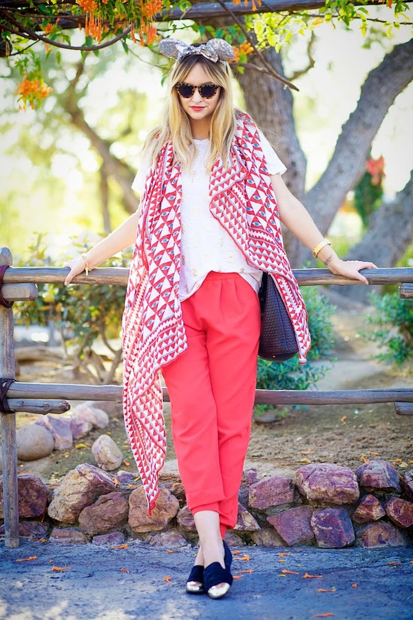 late afternoon pants shoes scarf jewels