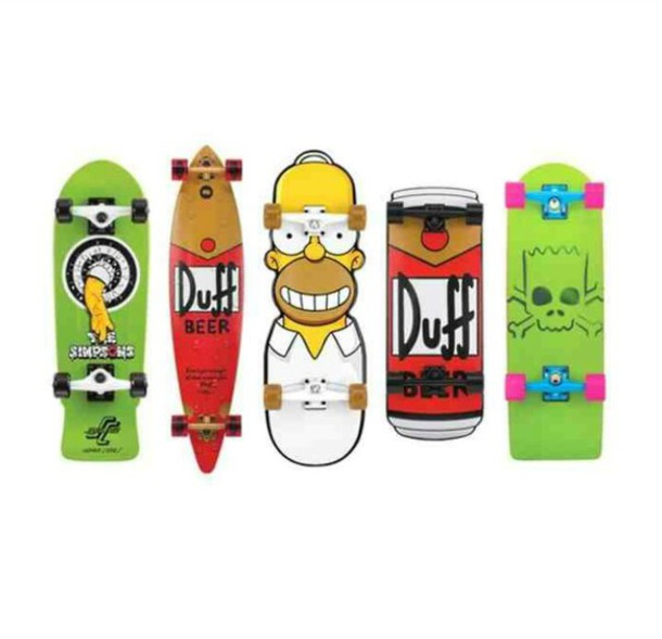 The Simpsons Bart Simpson Skateboard Home Accessory Skate Board Simpsons Wheretoget