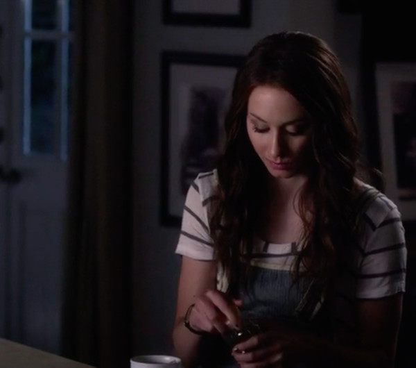 romper overalls denim overalls spencer hastings pretty little liars free people t-shirt