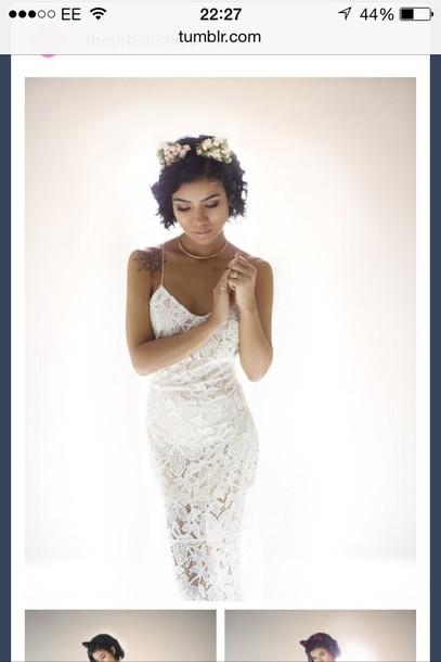 white dress jhene aiko tattoo dress