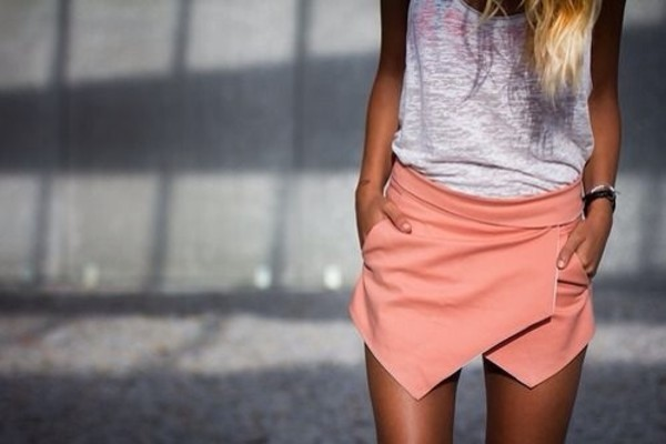 shorts cool pointy peach edgy
