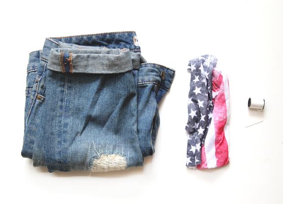 DIY American Flag Cuffs   Free People Blog