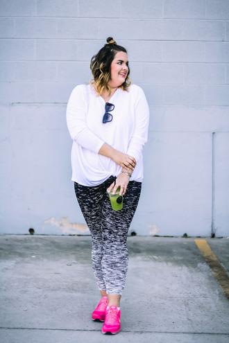stylishsassy&classy blogger top pants shoes sunglasses plus size sportswear sneakers leggings