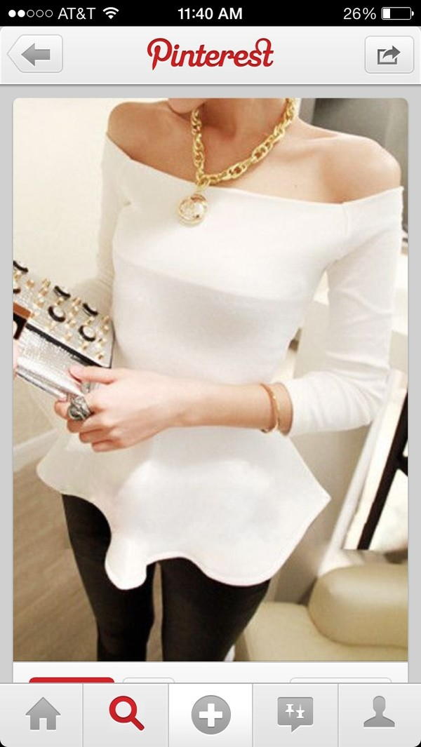 shirt statement necklace gold