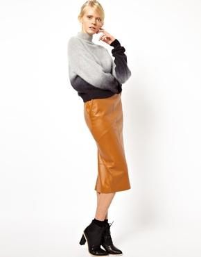 ASOS White | ASOS WHITE Pencil Skirt in Leather at ASOS