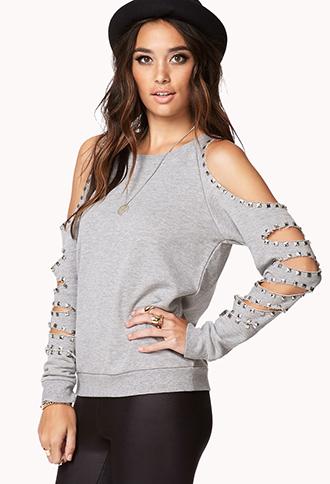 Cutout Raglan Sweatshirt   FOREVER 21 - 2000051238