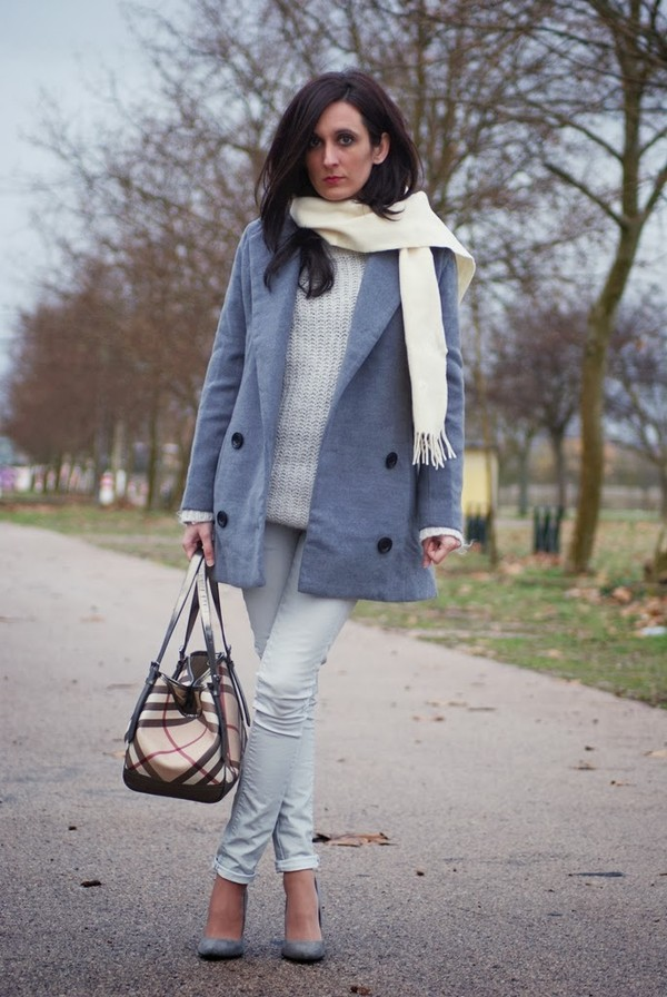 my name is maria coat sweater pants shoes bag scarf
