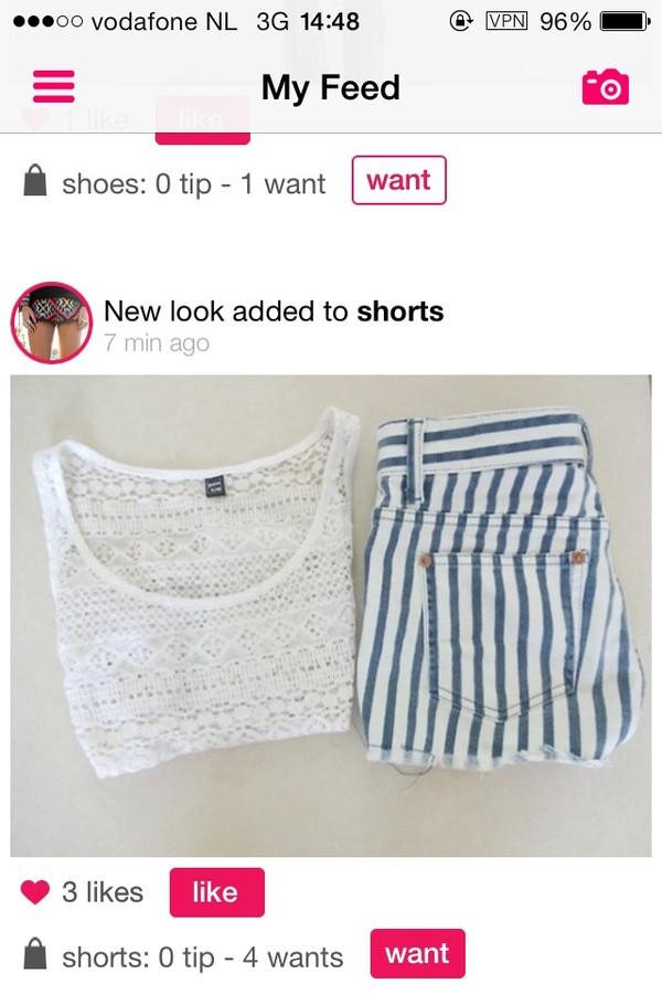 shirt crop tops shorts
