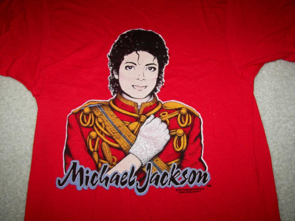 Michael Jackson Vintage 1984 Screen Stars T Shirt Medium | eBay