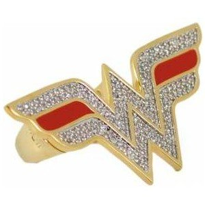 Amazon.com: nOir Wonder Woman Double Finger Logo Ring (7): Clothing
