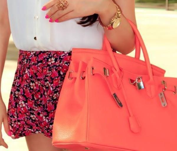 shorts flowers pink skirt idk lovely ariana grande bag