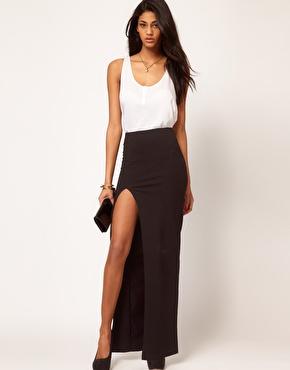 ASOS | ASOS Maxi Skirt with Thigh High Split at ASOS