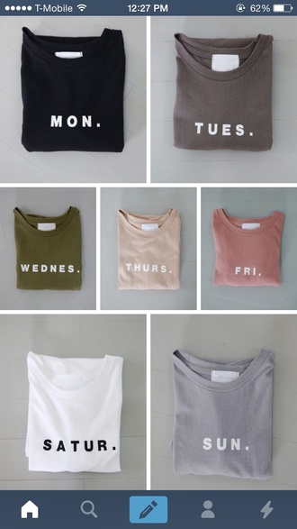t-shirt lazy day graphic tee shirt grey pink blue beige black white peach dark light hipster boho cute girly pale asthetic monday tuesday wednesday thursday friday saturday sunday weekdays colorful days weekday neutral nude weekend minimalist simply tumblr weekday print cute shirt top tumblr clothes gift ideas everyday green tan days of the week t shirt print fashion basic pastel day of the week casual week set everyday tee cotton t-shirt monday-sunday shirts everyday of the week