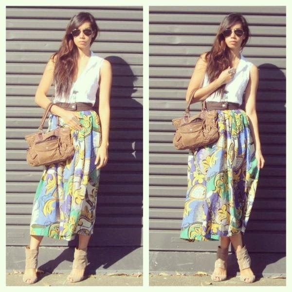 skirt vintage skirt vintage silk skirt blogger ekoluv vintage dress