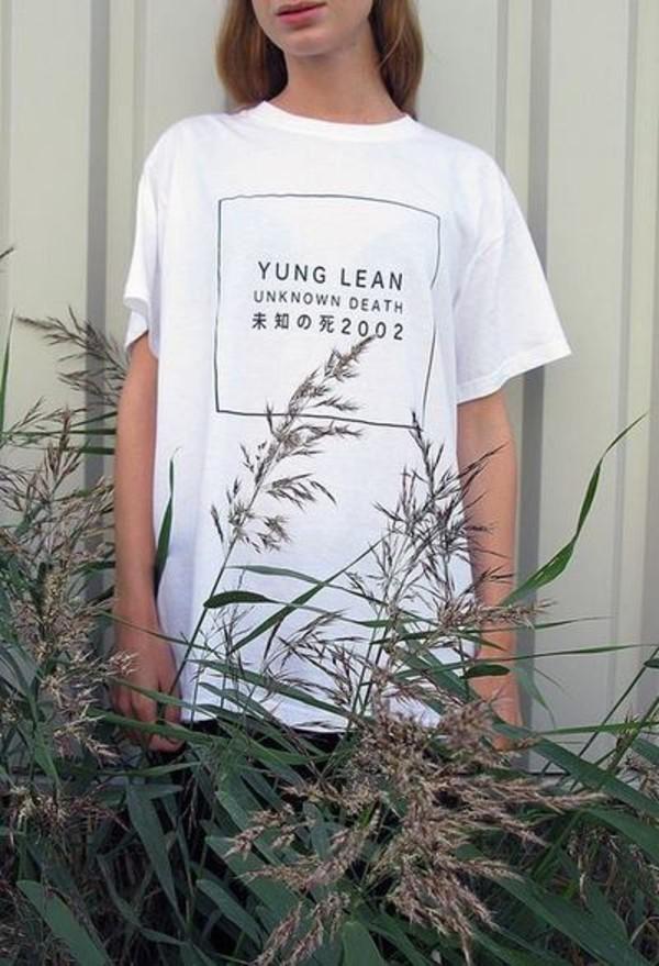 shirt yung lean tumblr clothes tumblr shirt t-shirt white tumblr