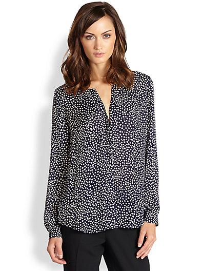 Joie - Moema Silk Heart-Print Shirt - Saks.com