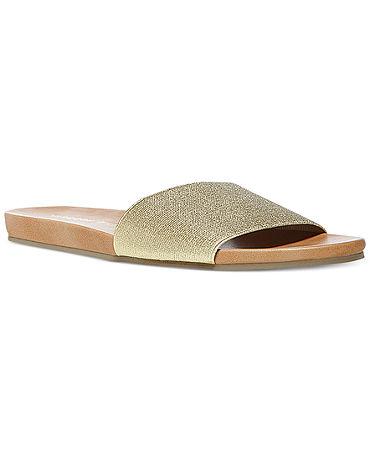 Madden Girl Elecktra Slide On Sandals - Shoes - Macy's
