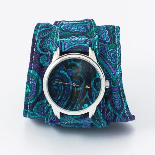 jewels watch watch blue flowers pattern ziz watch ziziztime