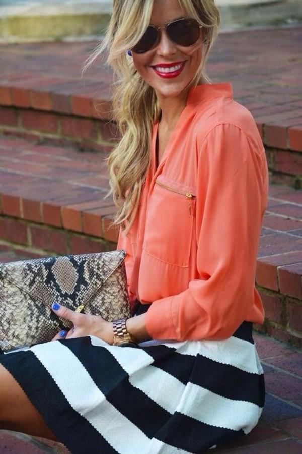 blouse bag skirt
