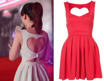 Sexy Cut Out Back Heart Dress (2 Colors)  on Luulla
