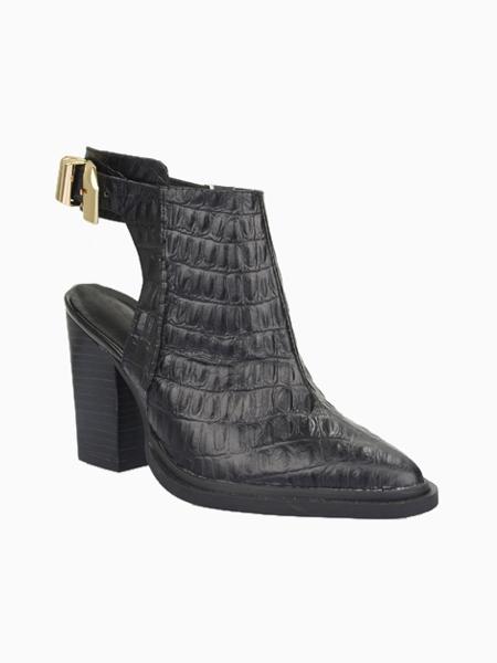 Crocodile Pointed High Heeled Sandal Boots | Choies