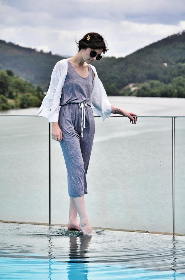 views by laura cardigan bag dress sunglasses