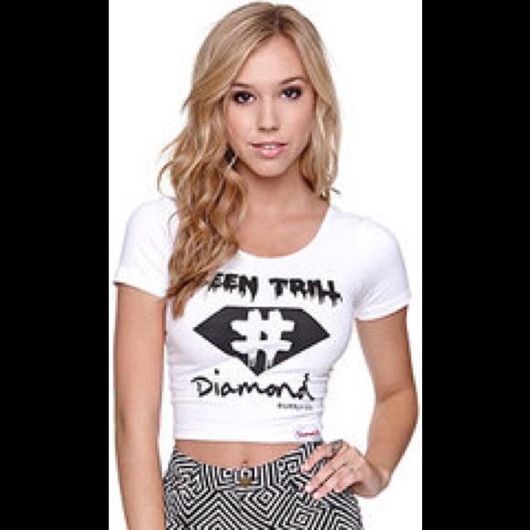 67% off Diamond Supply Company Tops - Diamond Supply x Been Trill Crop from Bailey's closet on Poshmark