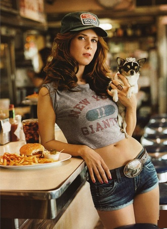 shorts kristen wiig denim shorts low rise denim texas new york city giants high wasted jean shorts low rise denim trucker hat crop tops