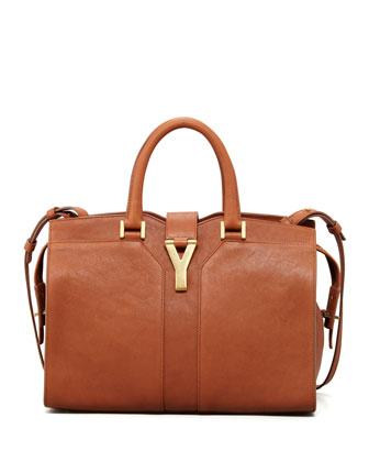 Saint Laurent Y Ligne Mini Tote Bag, Brown